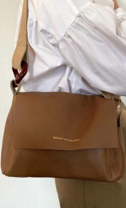 Marjana von Berlepsch Tasche Karen Resina Nougat Alt