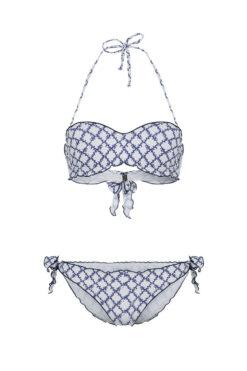 Swim With Mi Bacio Bacio Bikini Coral Check Blue