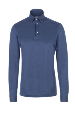 Swim With Mi Milanese Polo Shirt Navy Blue