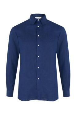 Swim With Mi Tender - To Linen Shirt Dark Blue