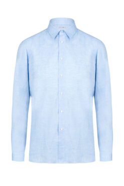 Swim With Mi Tender - To Linen Shirt Light Blue