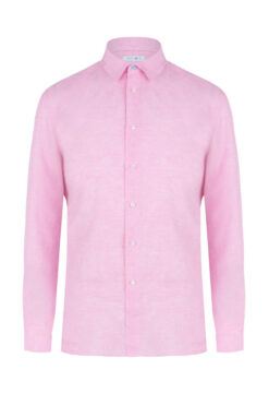 Swim With Mi Tender - To Linen Shirt Pale Pink