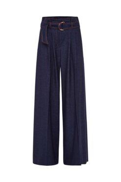 Maison Common Casual Jeans Flannel Paper Bag Trousers