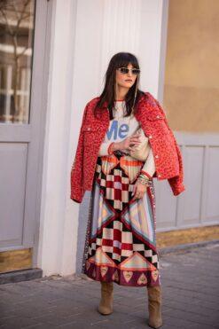 Me369 Joy Printed Midi Skirt Nomadic